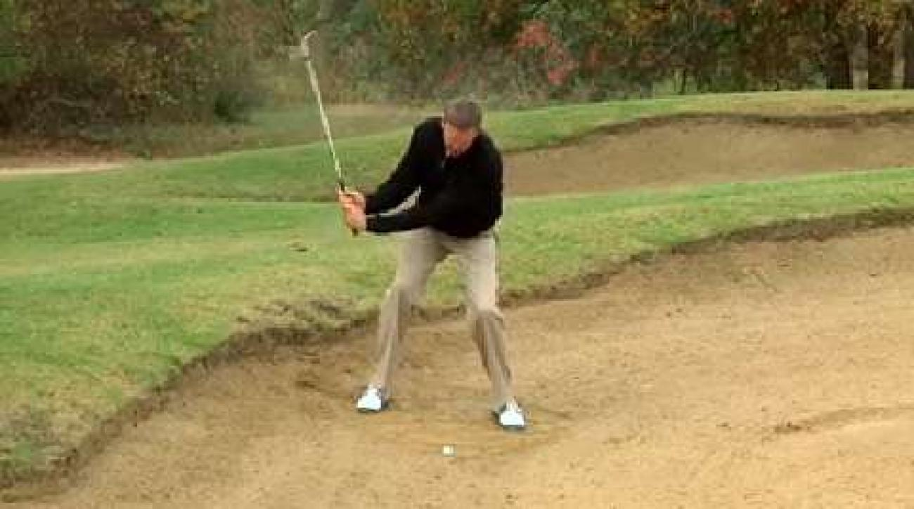 Hump Day Tip: Beat the downhill bunker lie