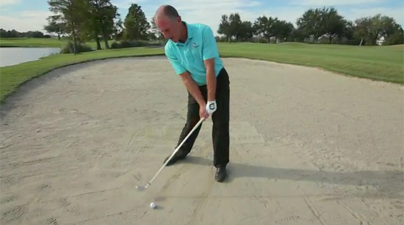 Setup Trick For Clean Fairway Bunker Strikes