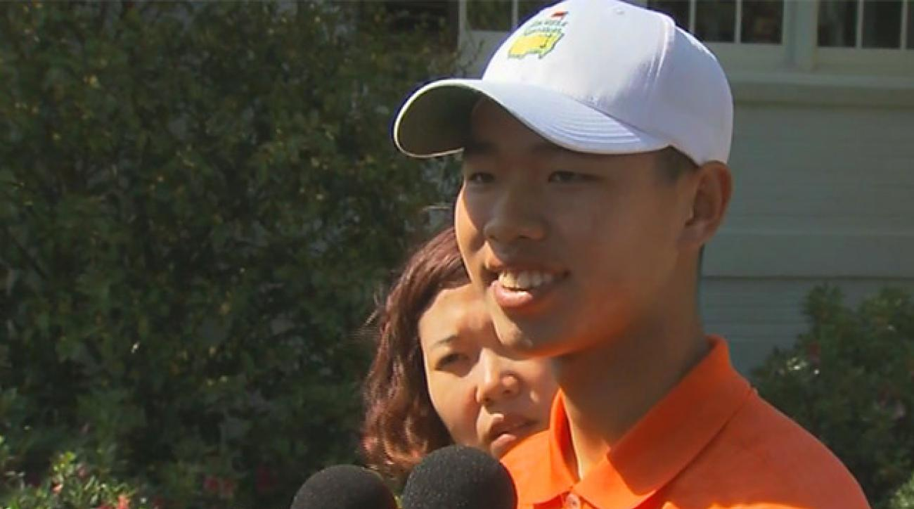 Tianlang Guan talks about his stunning slow play penalty at the Masters