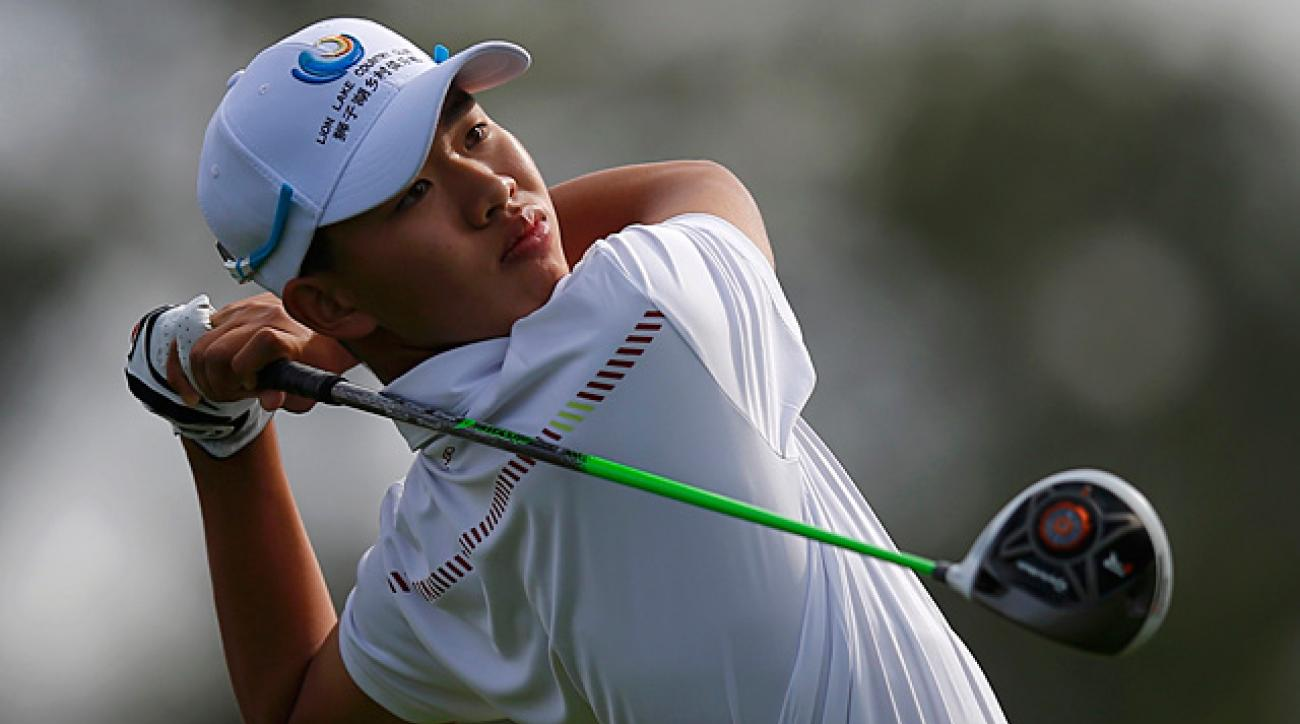 14-year-old Guan Tianlang prepares for Masters debut