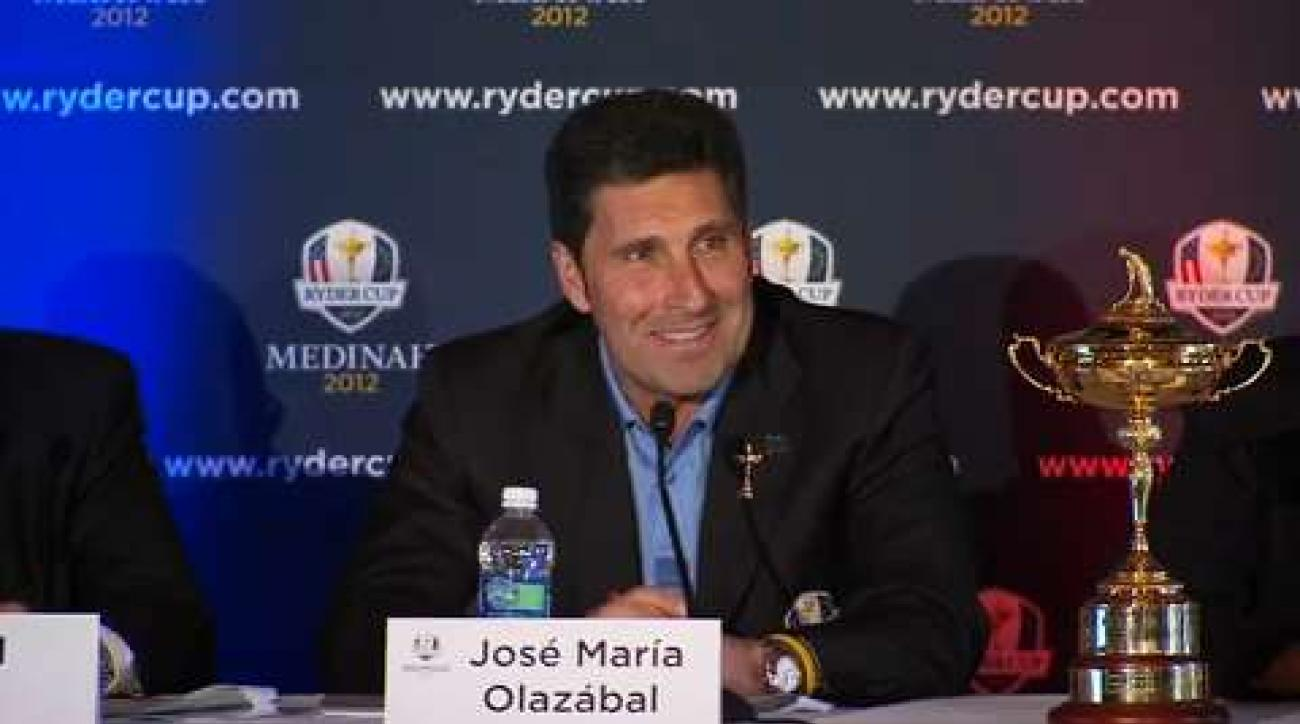 Jose Maria Olazabal on 2012 Ryder Cup