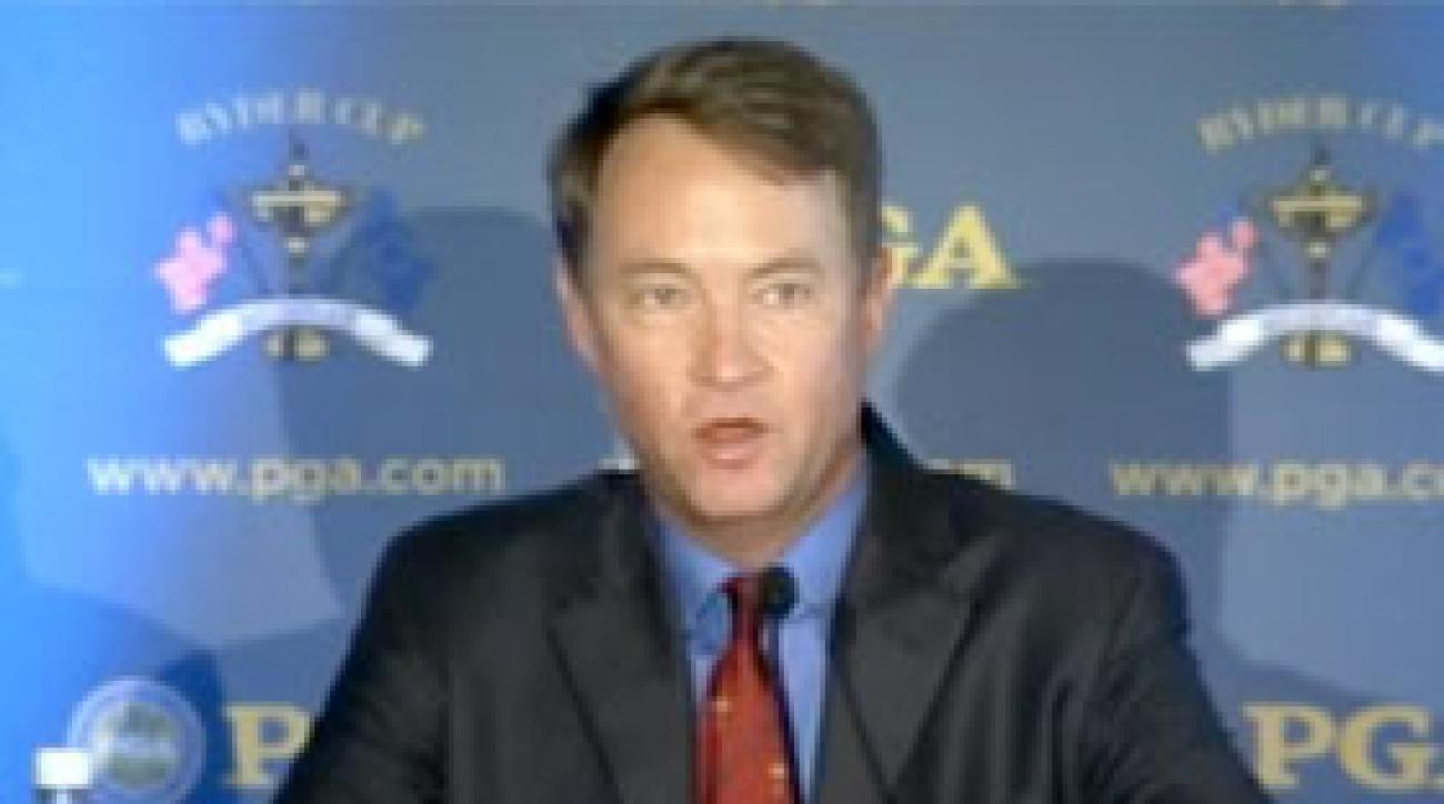 Davis Love III introduced as 2012 U.S. Ryder Cup captain