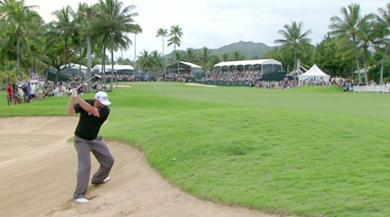 PGA Tour Shots of the Year: Steve Marino's Awkward Stance at Sony Open