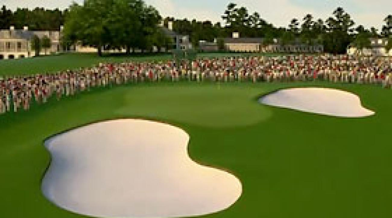 Augusta National Flyover: Hole No. 18