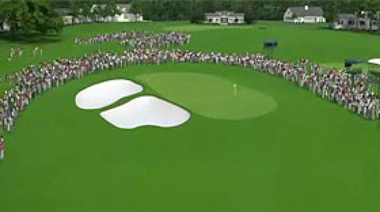 Augusta National Flyover: Hole No. 9