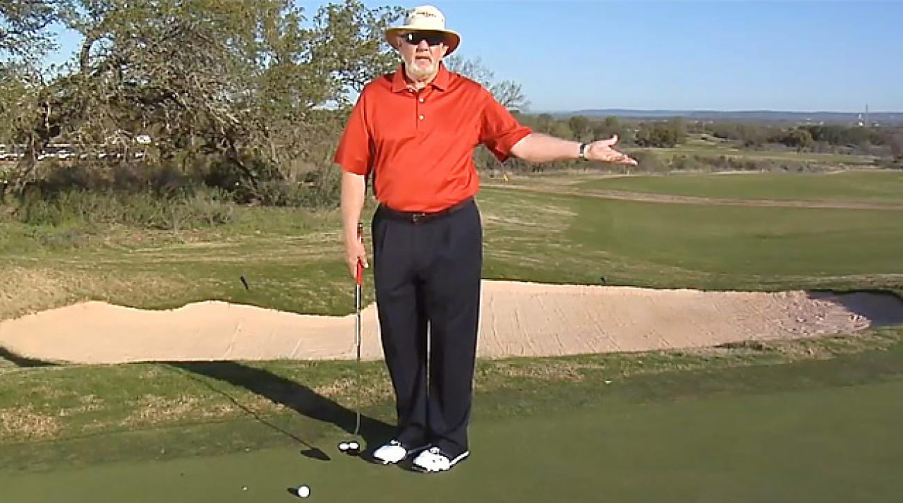 "Dave Pelz's 2011 ""What's Your Major"" Winner Randy Blunt tees off"