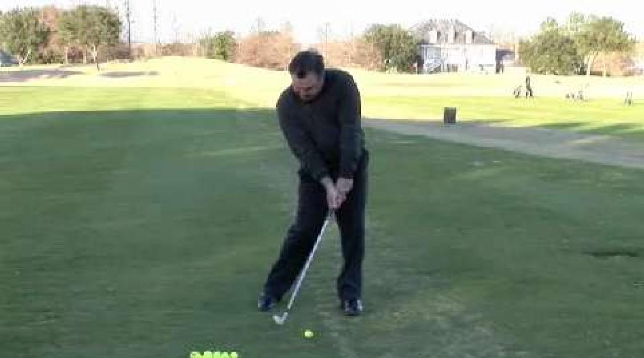 Lagging clubhead takeaway for more power