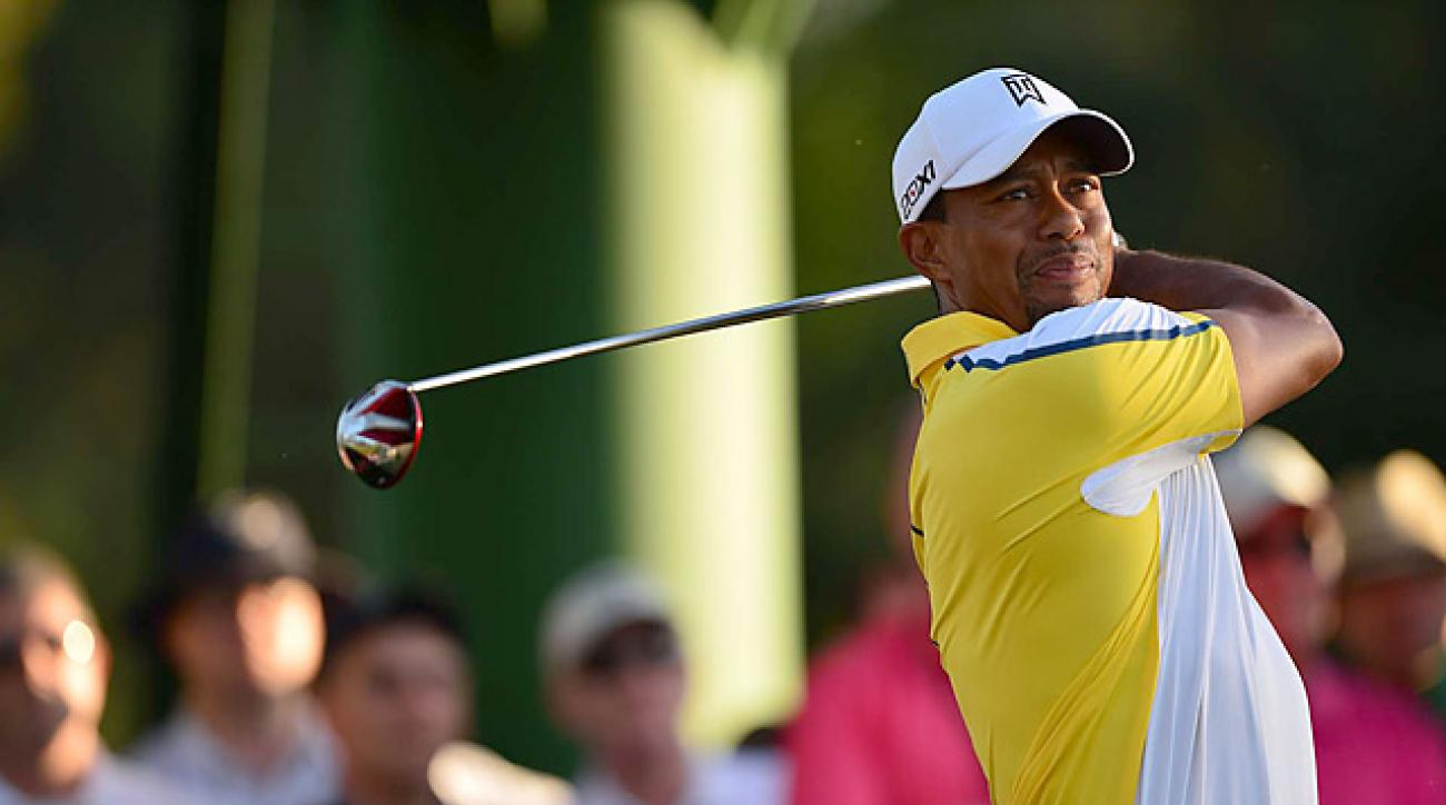Tiger Woods shoots 71 in the second round at the Masters