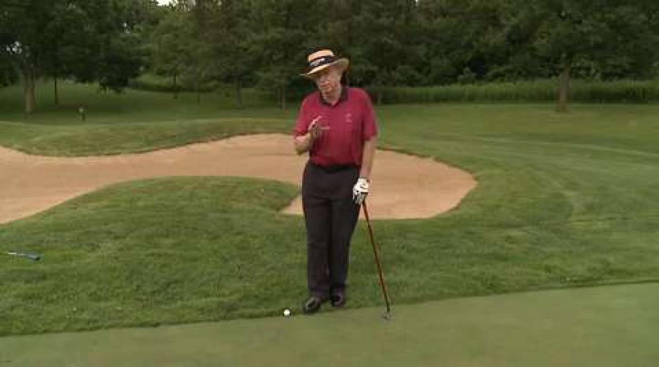 Wedge Your Putt When Against the Collar