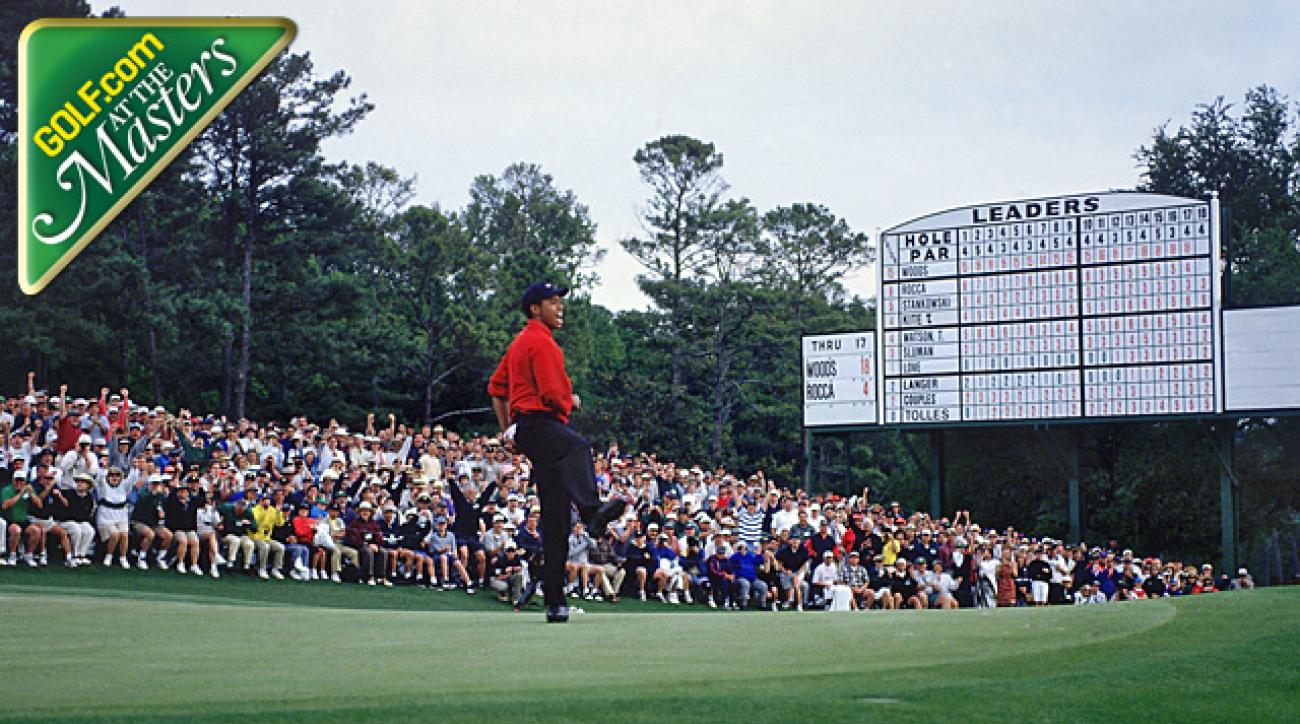 tiger woods 1997 masters win was memorable moment