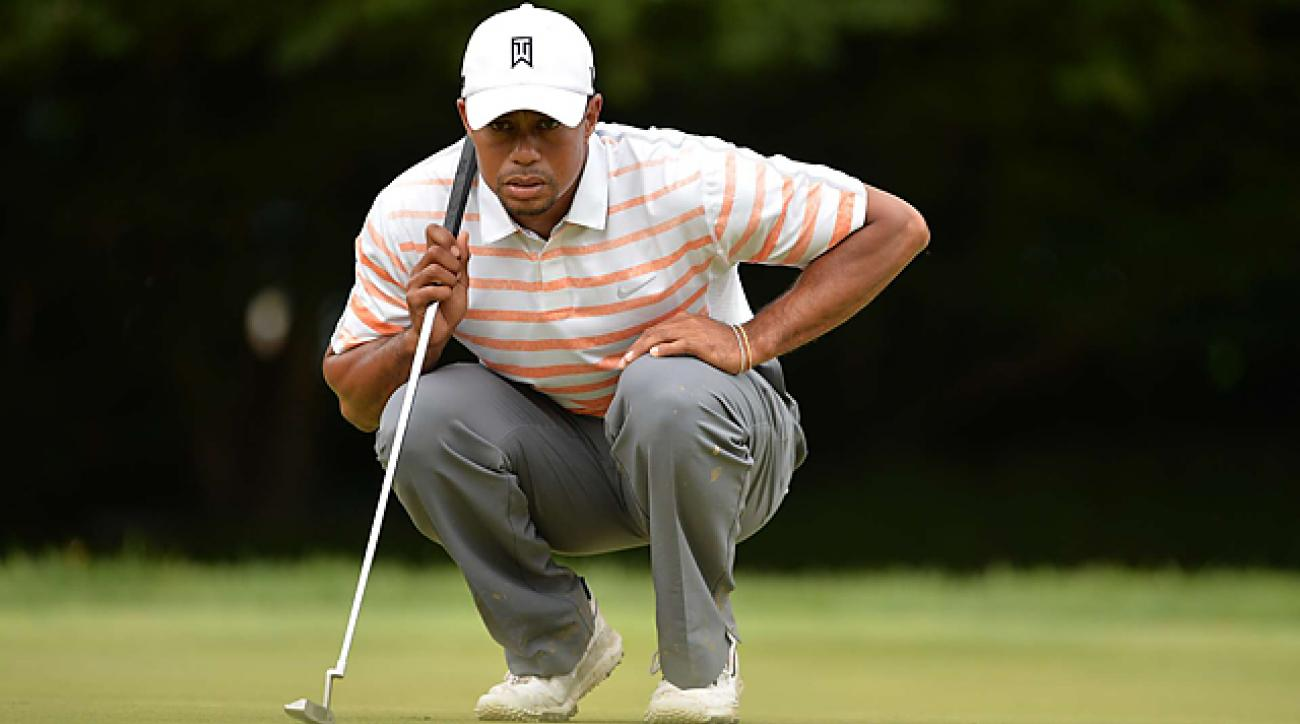 Tiger Woods in contention at Merion after second-round 70