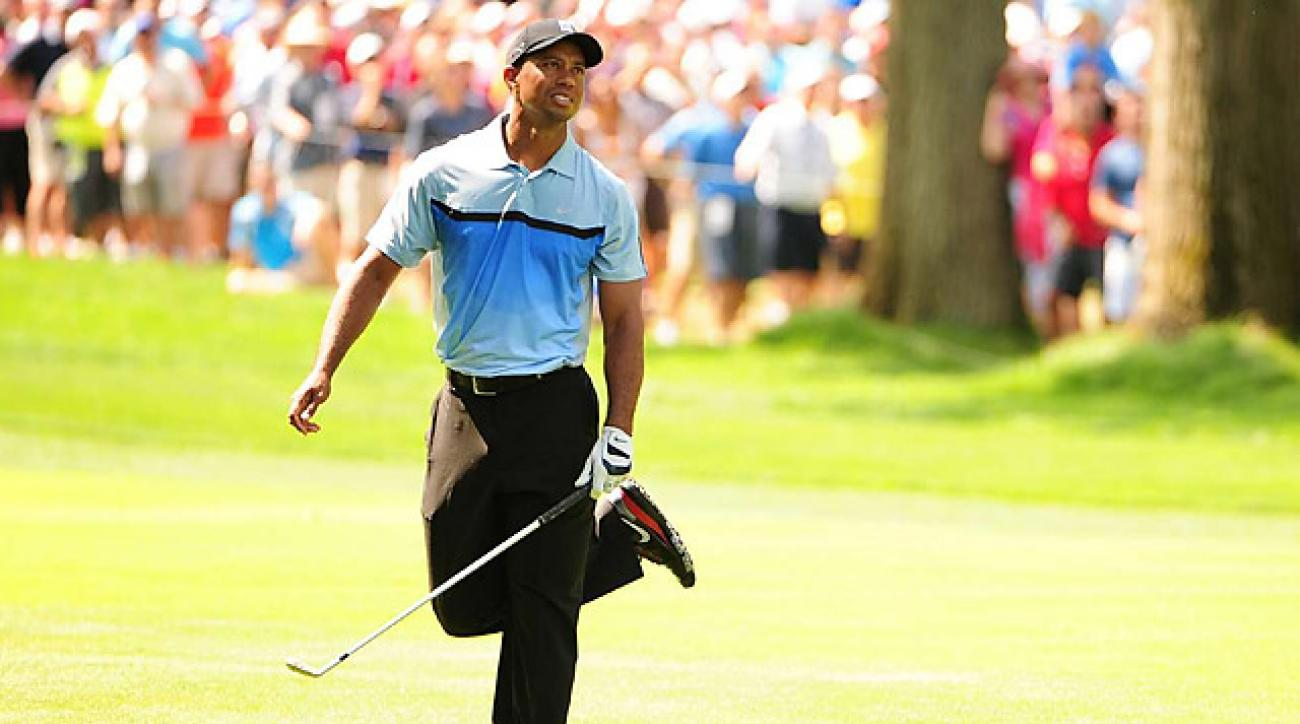 PGA Championship 2013: Tiger struggles on day one at Oak Hill