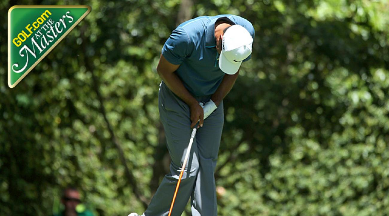 Tiger Woods dropped the ball in more ways than one