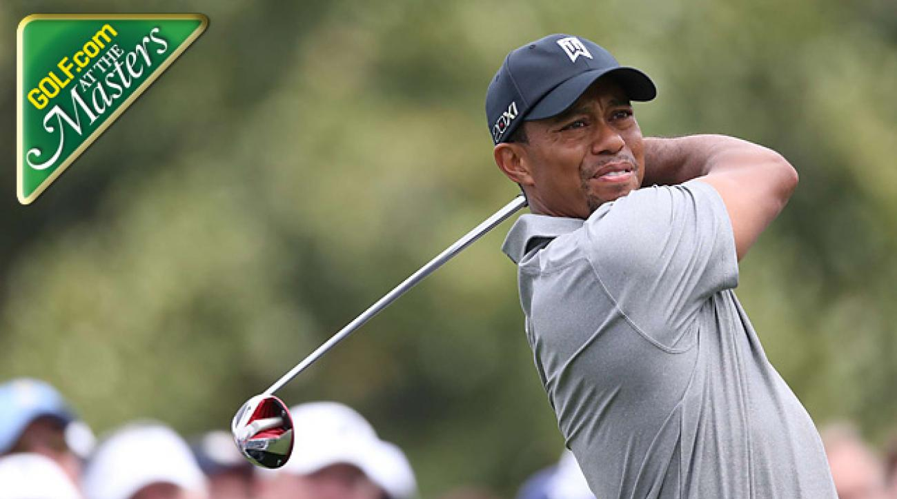 Tiger Woods solid, not spectatcular on Masters Day 1
