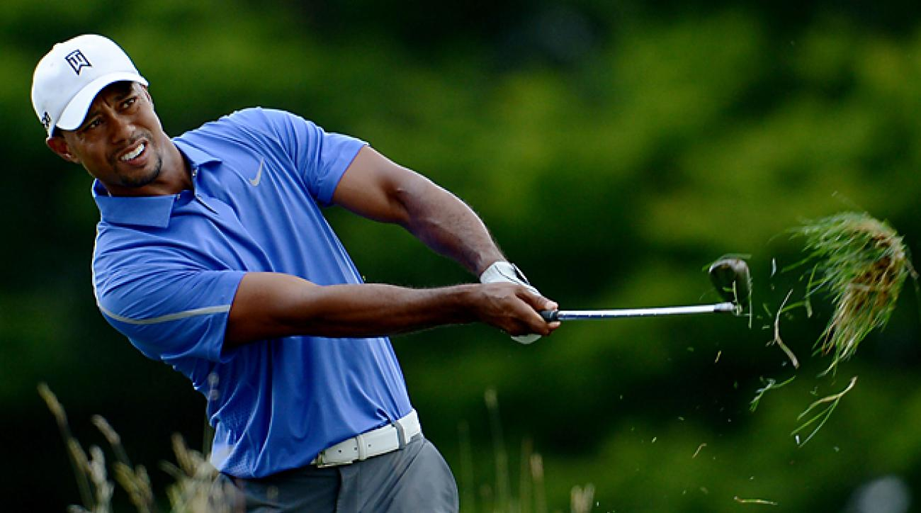 2013 U.S. Open: Tiger Woods struggles Thursday at Merion