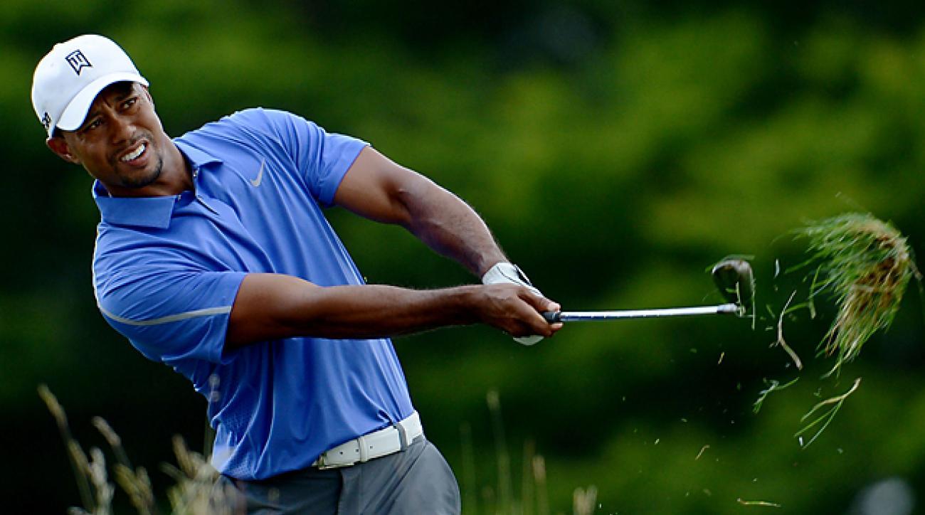 2013 U.S. Open: Tiger Woods struggles Thursday at Merion