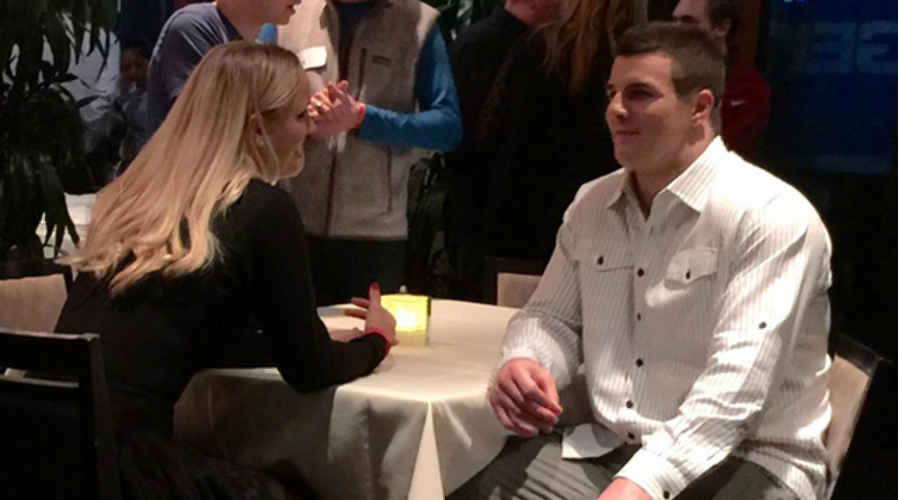 Caroline Wozniacki and Ryan Kerrigan at the Heart of Gold D.C. charity event.