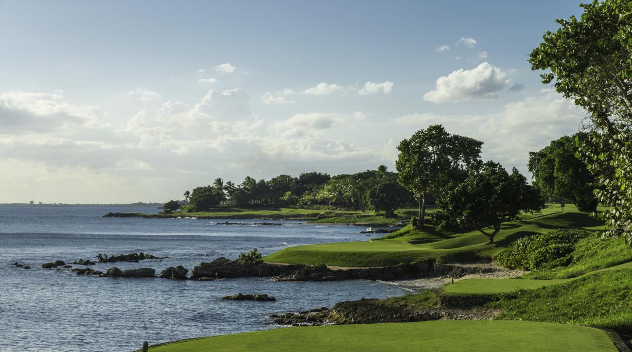 The 5th hole at Teeth of the Dog at the Casa de Campo resort in the Dominican Republic.