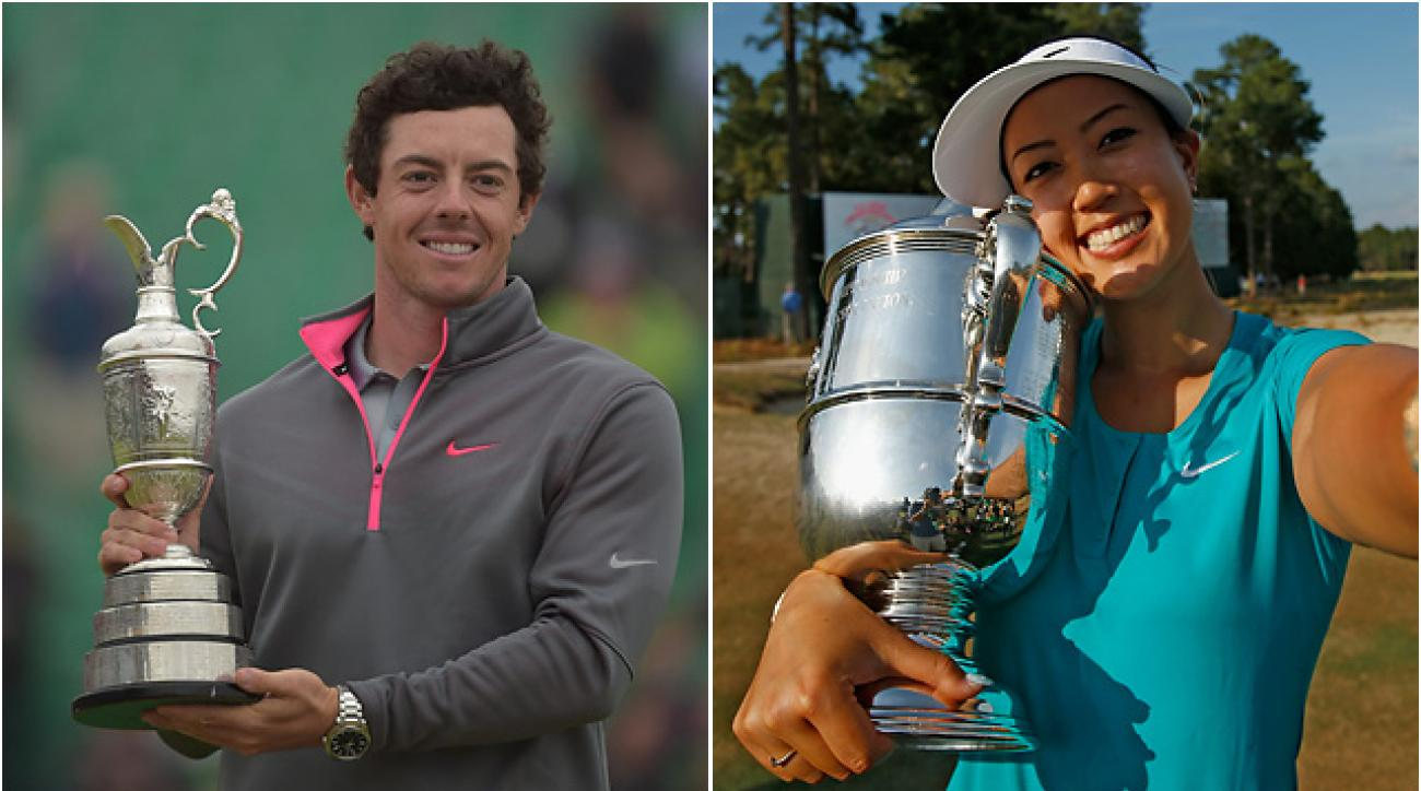 Rory McIlroy and Michelle Wie lead Alan Shipnuck's list of golf's Heroes in 2014.
