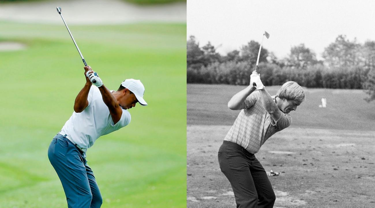 Woods and Nicklaus have different moves, but the logic behind them is similar.
