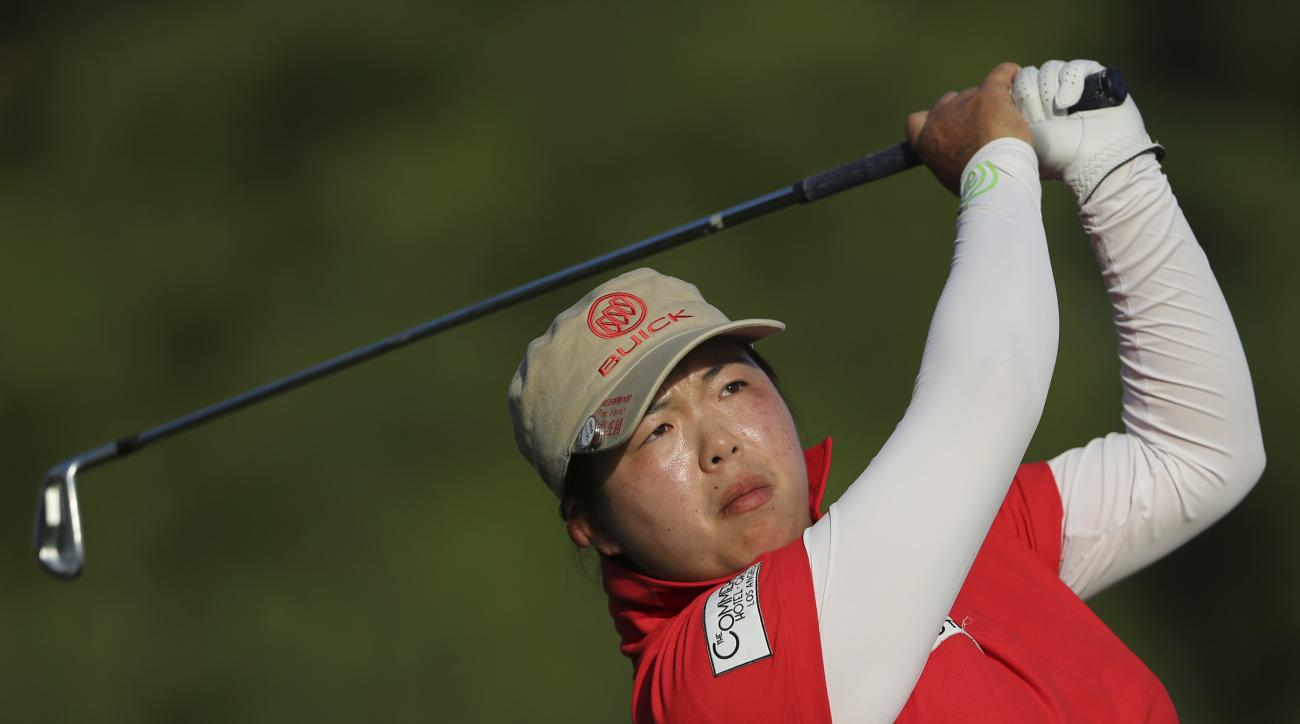 Shanshan Feng of China plays the  final round of the Omega Dubai Ladies Masters.