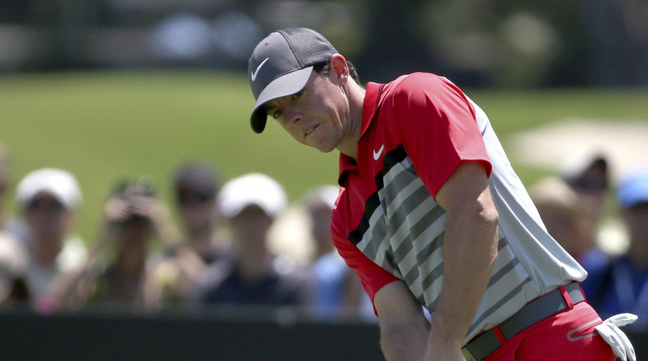 Northern Ireland's Rory McIlroy putts on the 4th hole during the final round of the Australian Open.