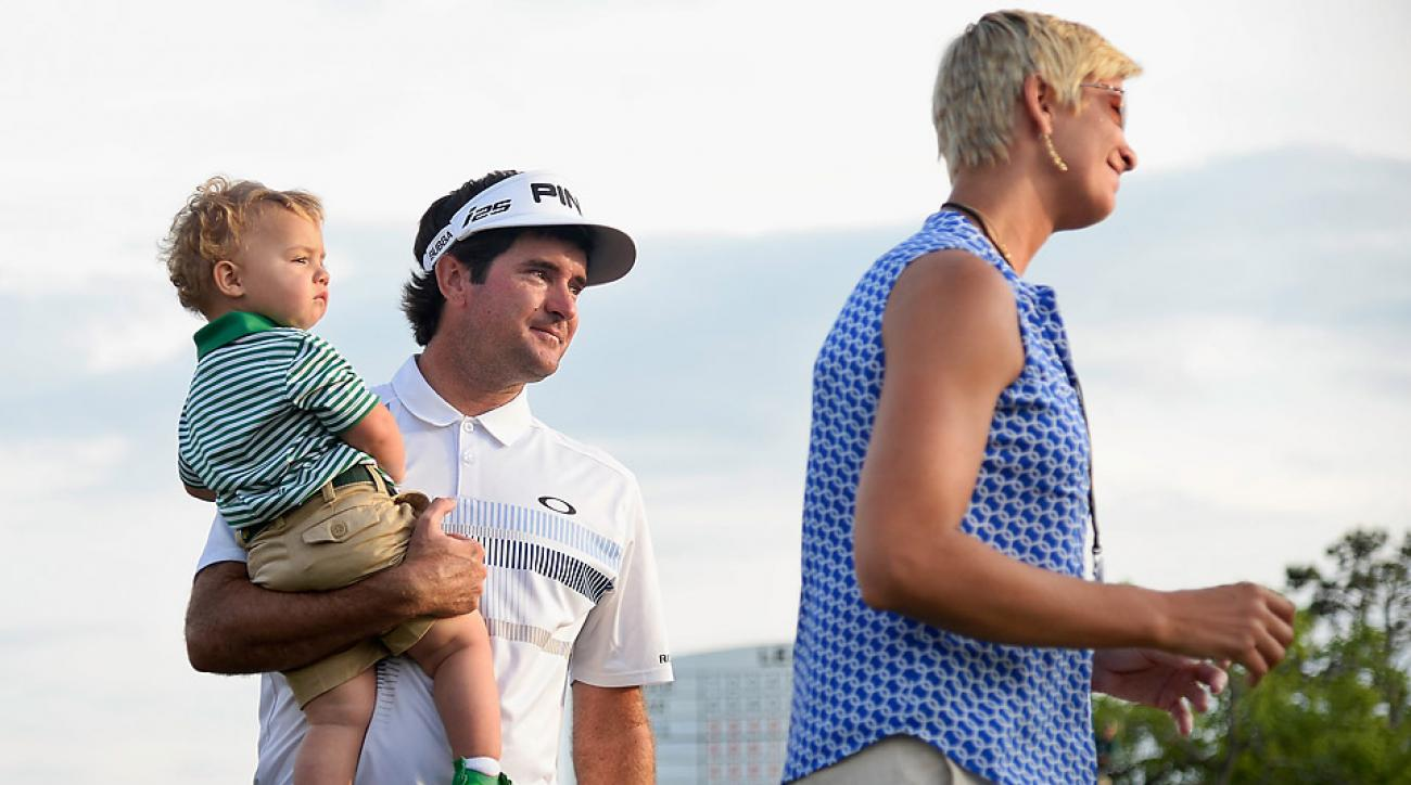 The Watson family after Bubba's victory at the 2014 Masters.