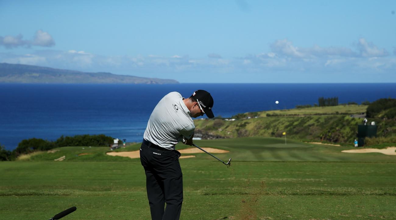 Zach Johnson during round two of the Hyundai Tournament of Champions at Plantation Course at Kapalua Golf Club on January 10, 2015 in Lahaina, Hawaii.