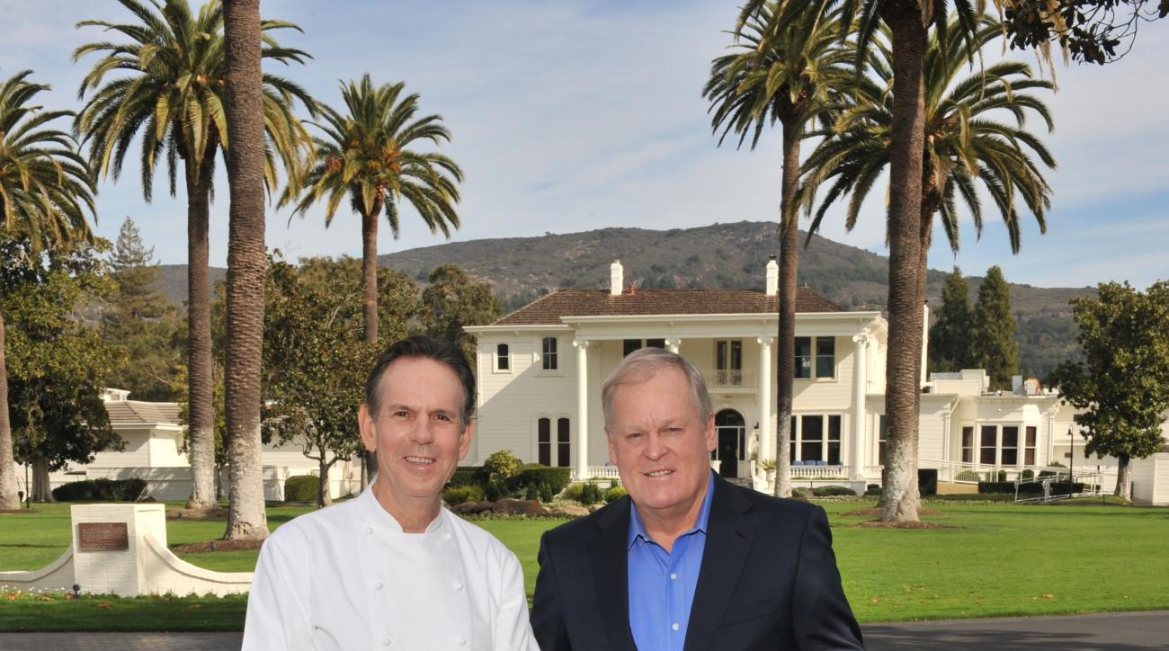 Thomas Keller (left), the chef behind Per Se, is also an avid golfer and longtime friend of Johnny Miller.