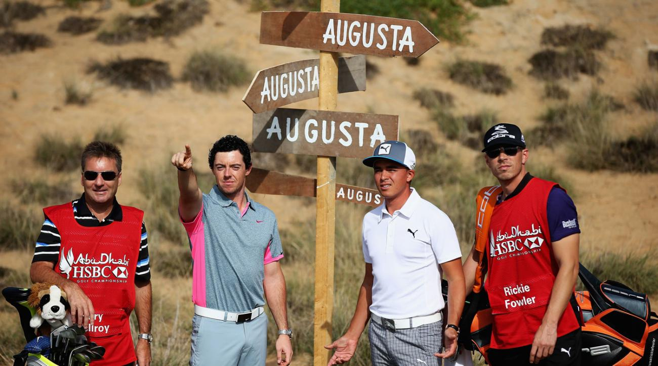 Rory McIlroy and Rickie Fowler will play the first two rounds together in Abu Dhabi.