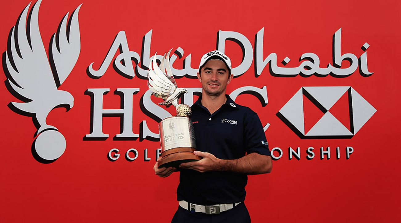 Gary Stal following his victory at the 2015 Abu Dhabi HSBC Golf Championship.
