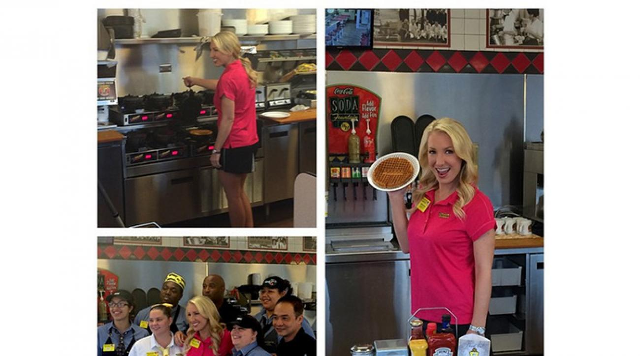 Brooke Pancake announced her endorsement deal with Waffle House over Instagram.