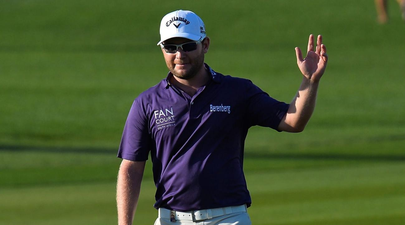 Branden Grace eagled the 16th hole to help win the Qatar Masters.