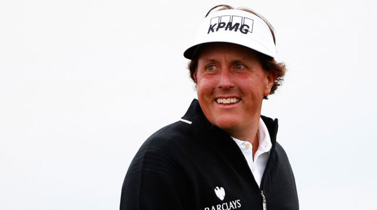 Phil Mickelson won the Waste Management Phoenix Open in 2013 and is in the hunt this year.