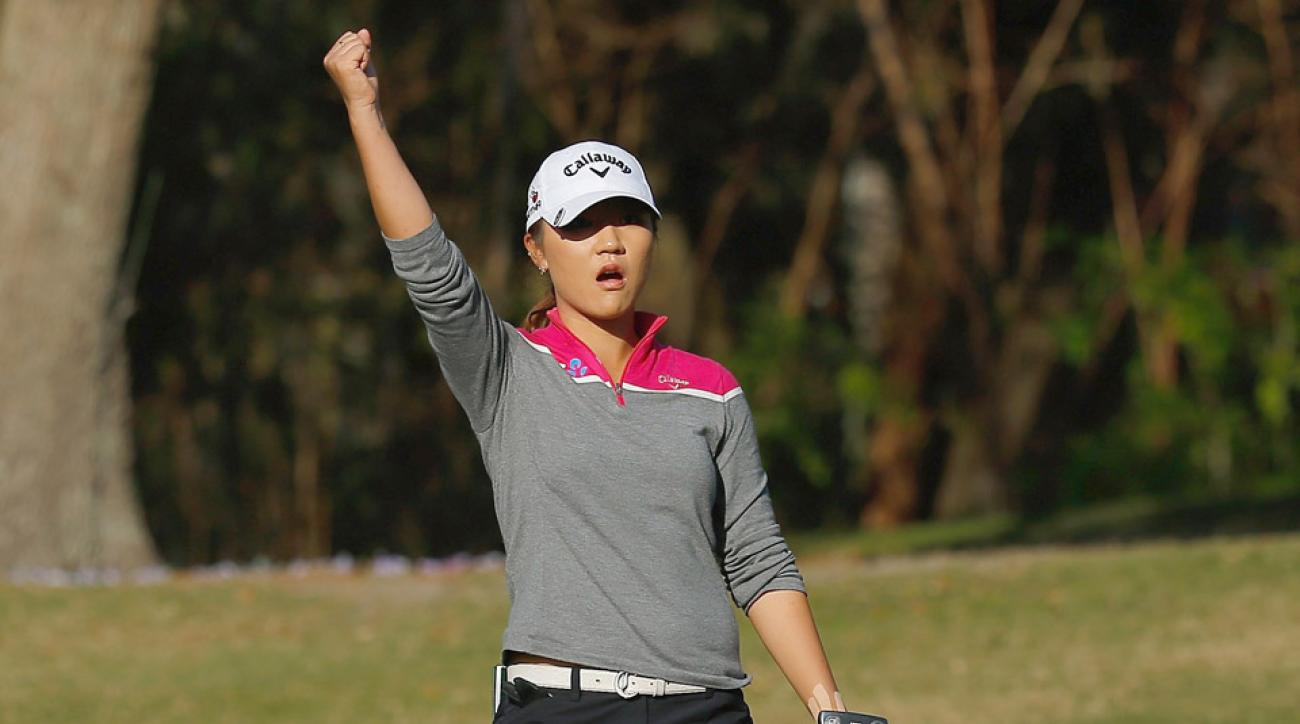 Lydia Ko reacts after sinking a birdie putt Saturday at the LPGA's Coates Golf Championship.