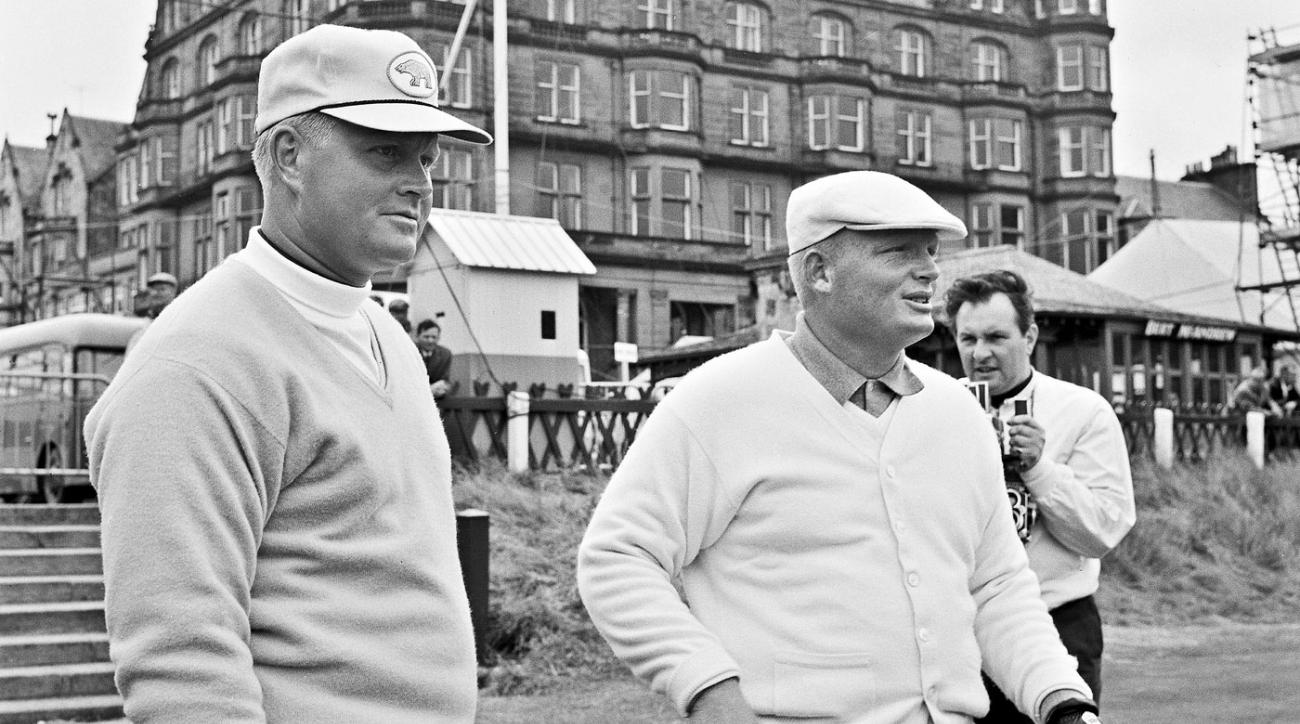 Jack Nicklaus (left) and Phil Rodgers were together on the first tee of the Old Course at St. Andrews during the 1964 Open Championship.