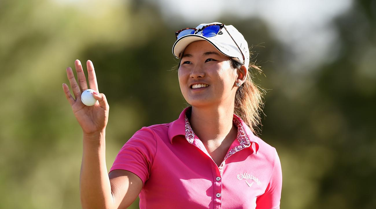 Su-Hyun Oh celebrates winning the Australian Ladies Masters on Feb. 15, 2015