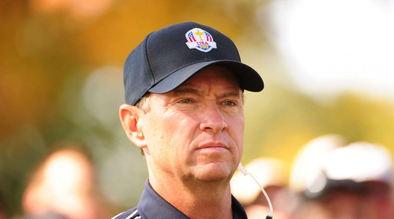 Davis Love at the 2012 Ryder Cup at Medinah. Love will return as U.S. captain in 2016.