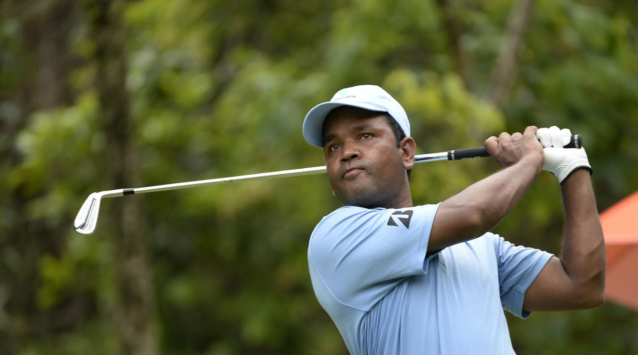 Siddikur Rahman plays a shot during the Queen's Cup at Santiburi Samui Country Club on June 8, 2014, in Bangkok, Thailand.