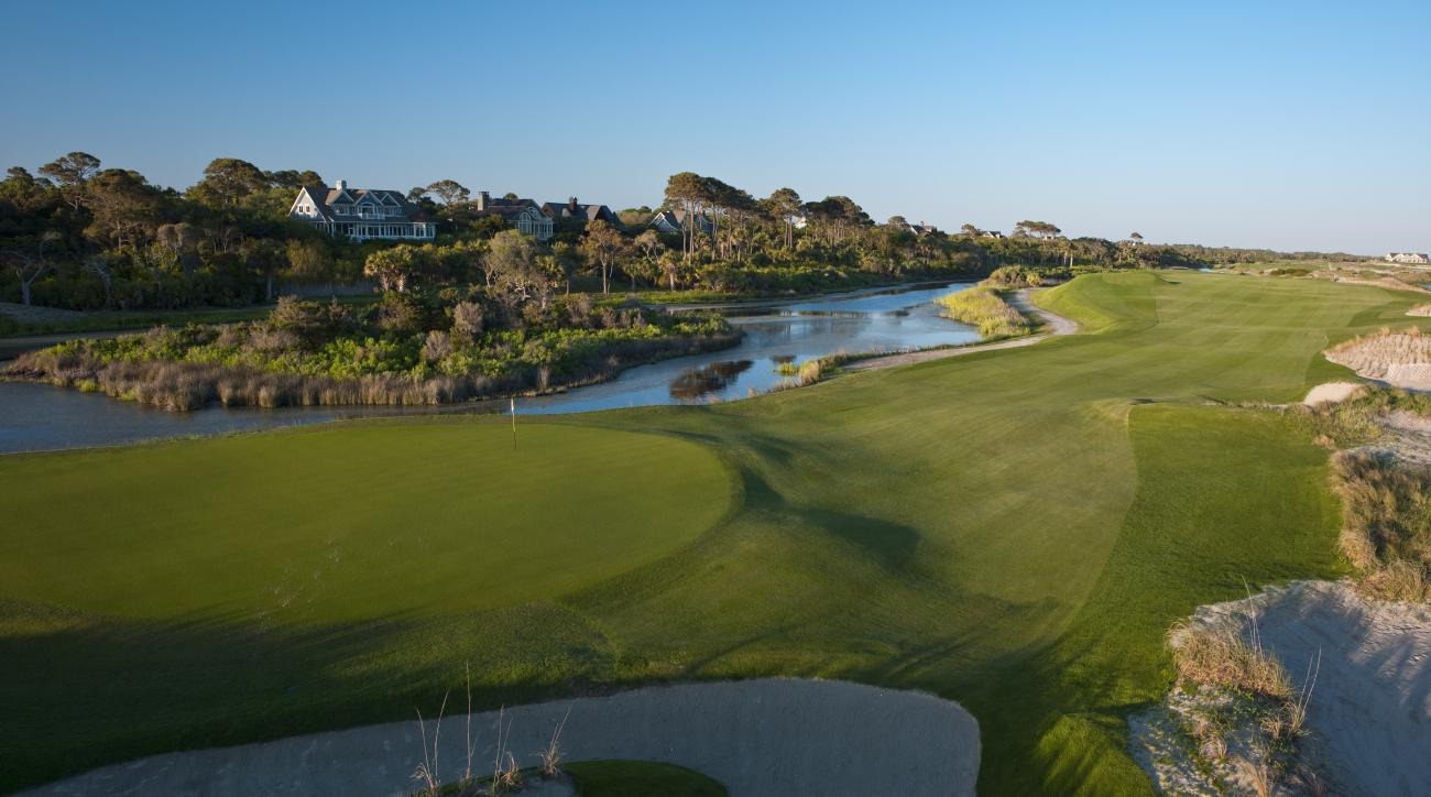The 13th on Kiawah's Ocean Course, site of 1991's Ryder Cup showdown.
