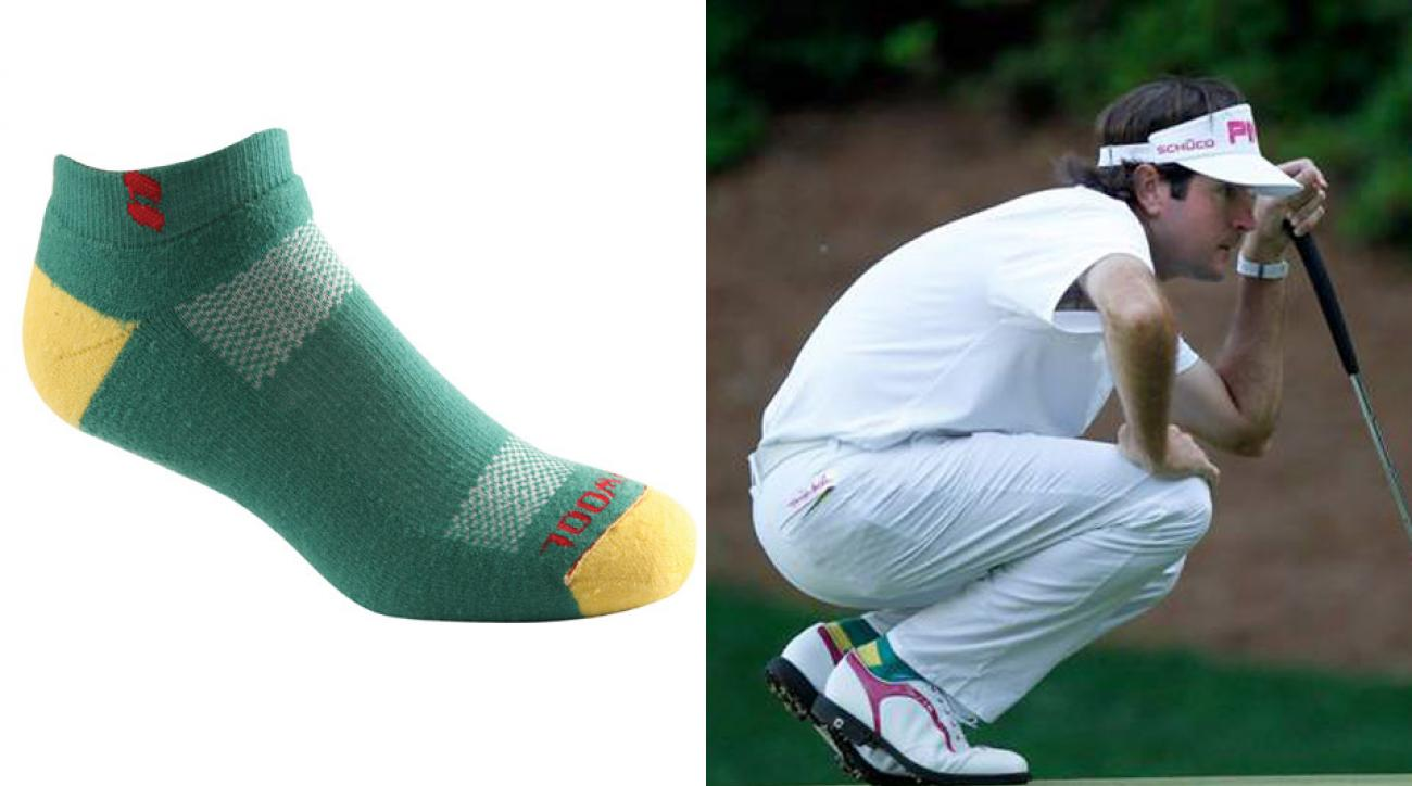 Bubba Watson and his limited edition KENTWOOL sock.