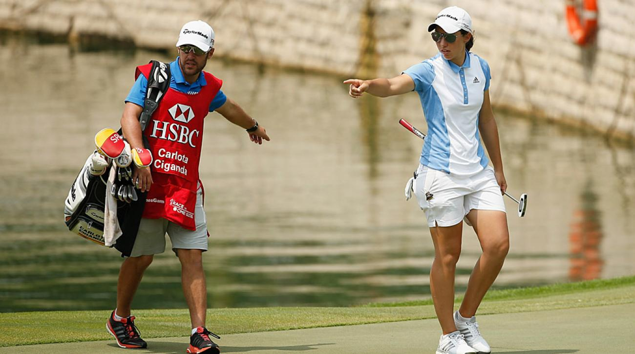 Carlota Ciganda during the second round of the HSBC Women's Champions.