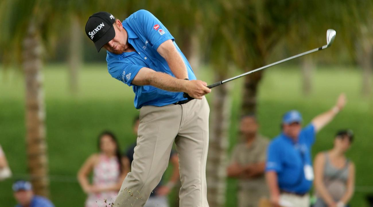 J.B. Holmes aced the par-3 fourth hole at Doral on Saturday.
