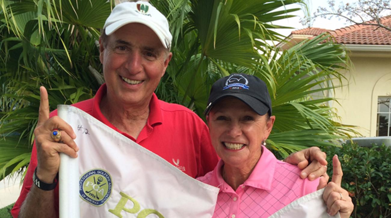 John and Barbara Pagana have combined for 23 holes-in-one.