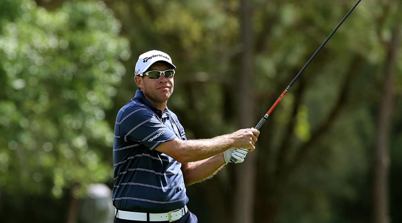Brian Davis shot a 66 to take the first-round lead.