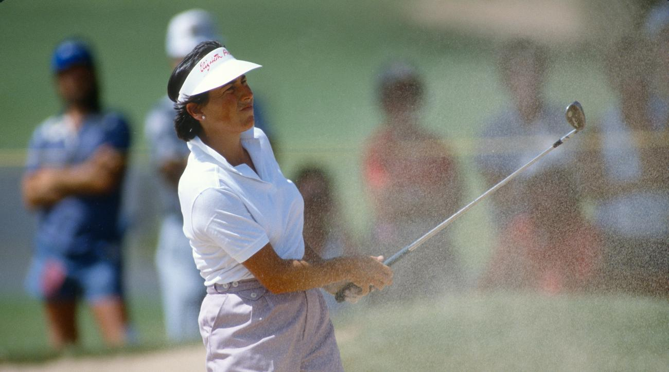Amy Alcott notched 29 LPGA wins , including her third and final Dinah Shore title in 1991.