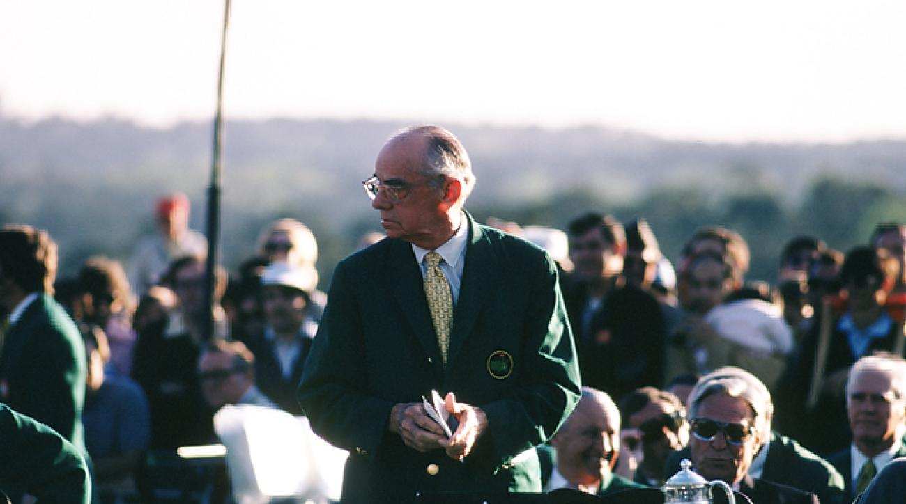 Clifford Roberts pictured at the 1972 Masters.