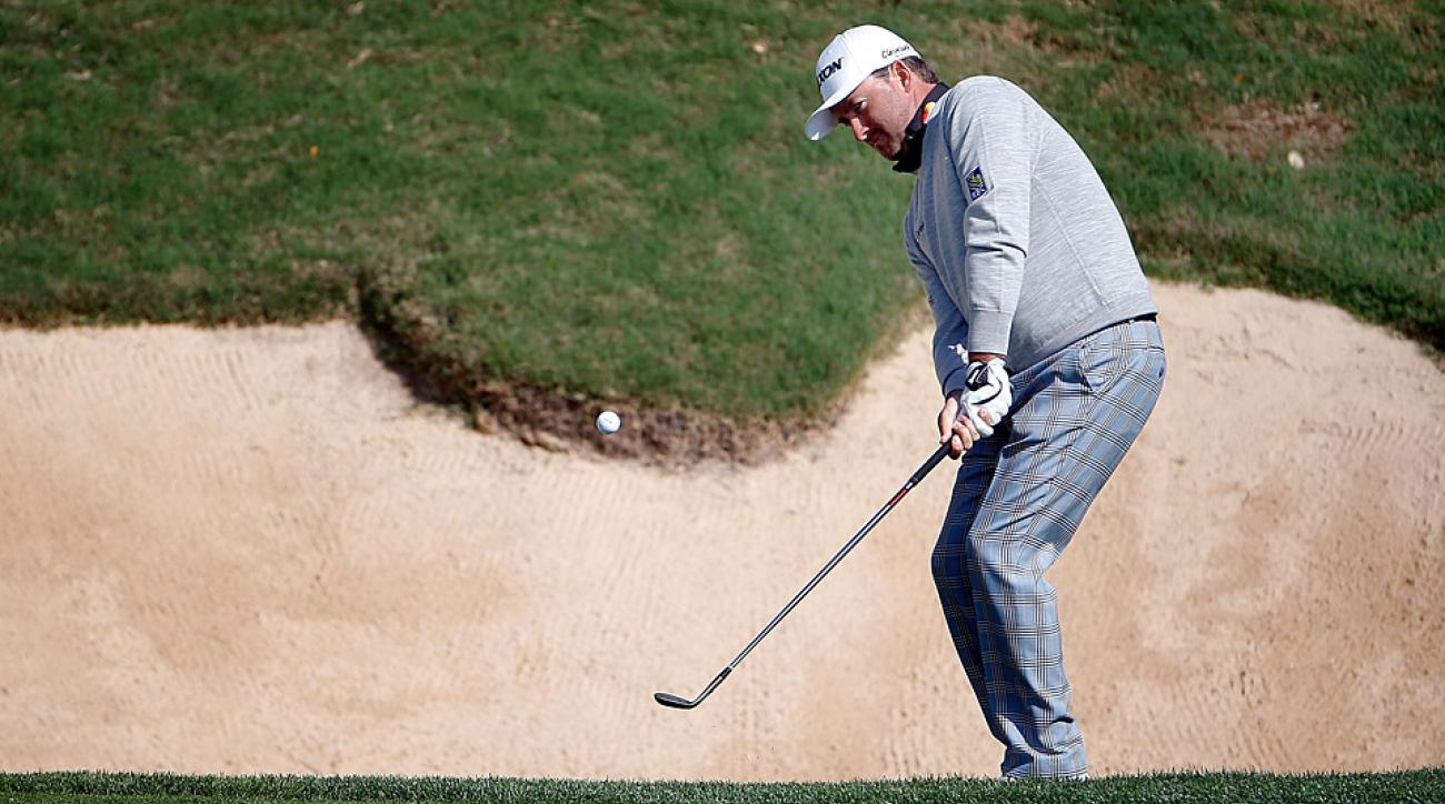 Graeme McDowell during the first round of the Valero Texas Open.