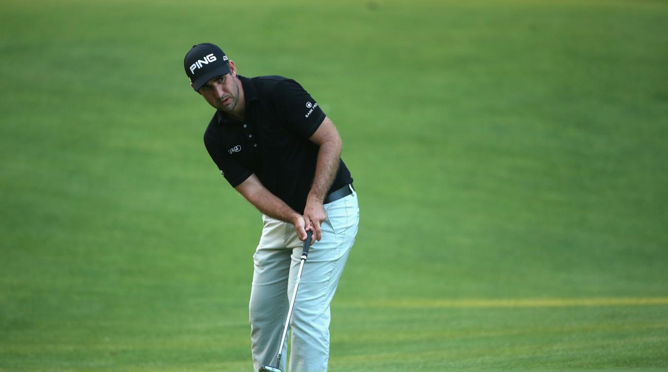 Oliver Farr in action during the second round of the Trophee Hassan II in Morocco.