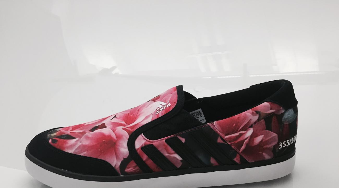 The Adidas Adicross SL Azalea golf shoe.